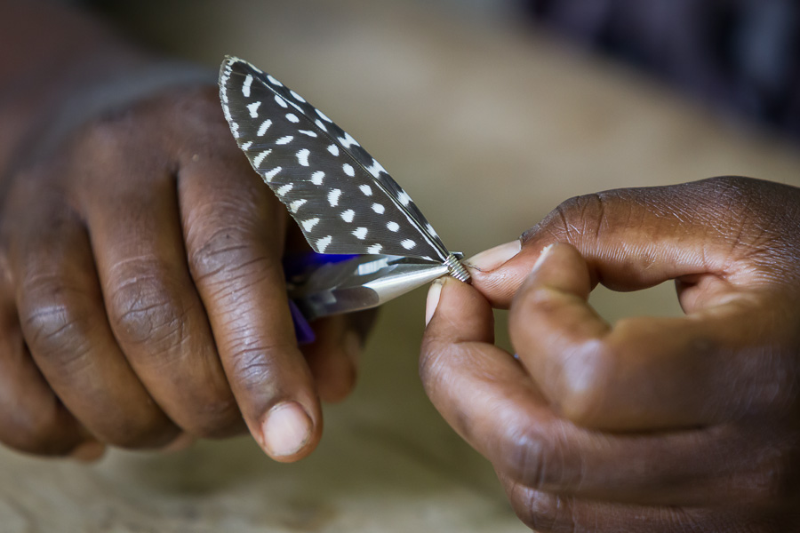 Feather earrings