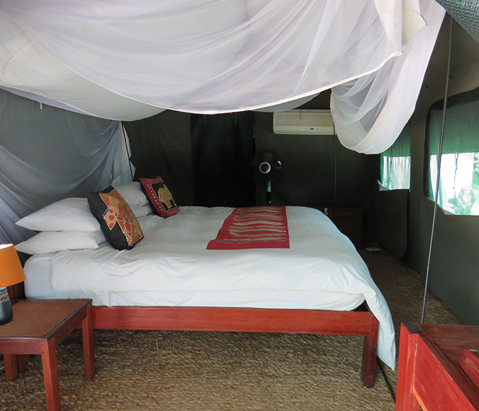 Sleeping Area River Tent Accommodation