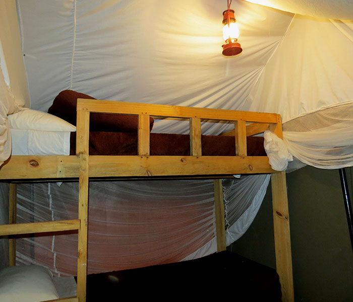 Bunk Beds River Tent Accommodation