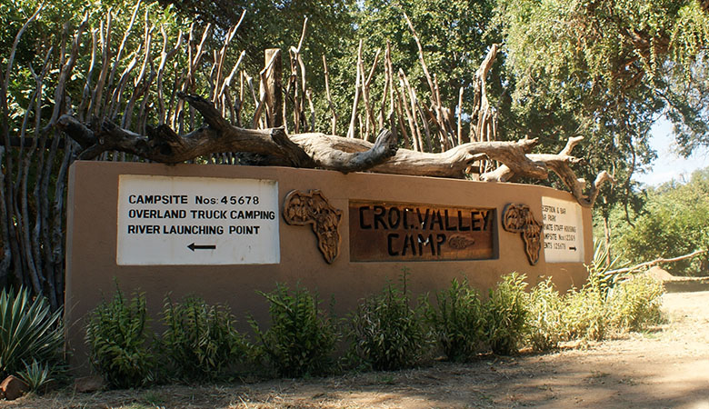 Croc Valley Camp Sign