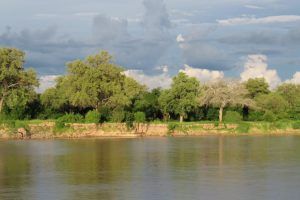 Luangwa River during rainy season