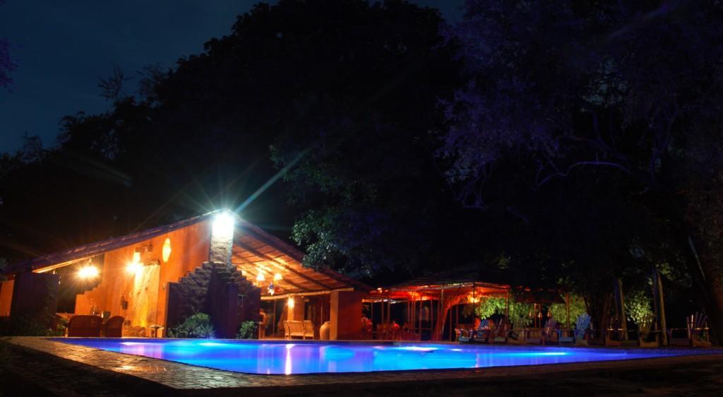 Croc Valley Camp at Night